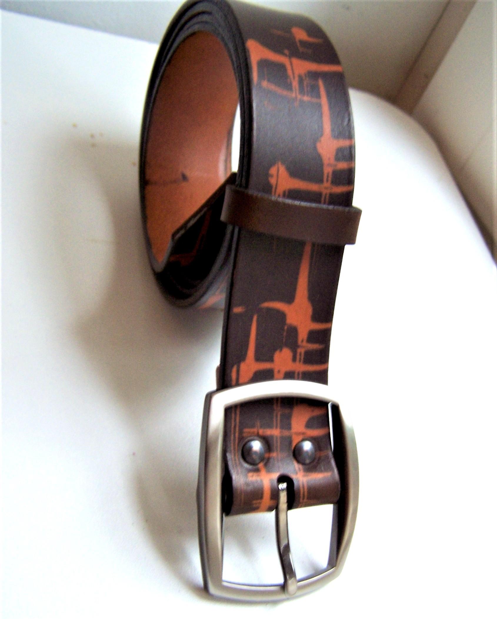 ceinture Large originale couleur marron 2 tons