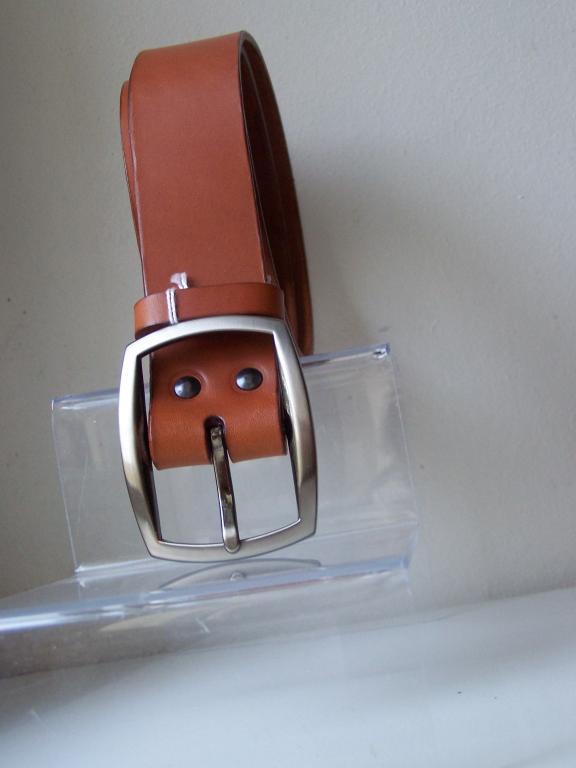 ceinture large 3.5cm marron clair Whisky