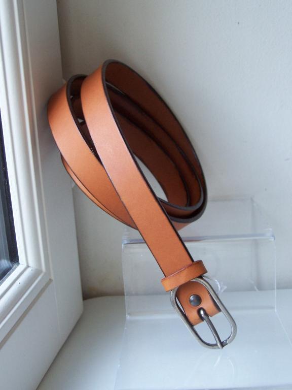 ceinture fine 2cm, whisky,